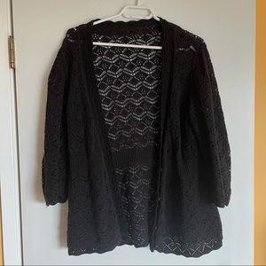 3/$30 Forever 21 lace knit black cardigan medium